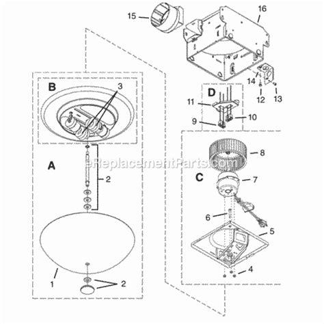 nutone 773bnnt parts list and diagram ereplacementparts
