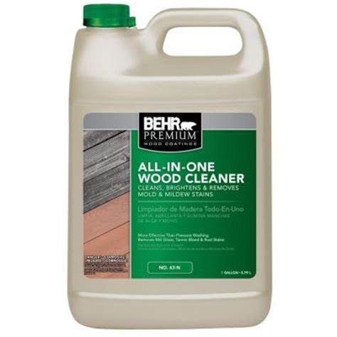 Sodium Percarbonate Deck Cleaner Brands by Behr Premium 1 Gal All In One Wood Cleaner 06301n The