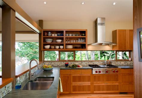 kitchen cabinets houzz pacific nw mid century kitchen remodel midcentury 3021