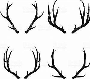 Vector Deer Antlers Collection stock vector art 456916919 ...