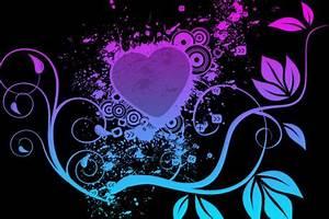 neon heart wallpaper Opera add ons