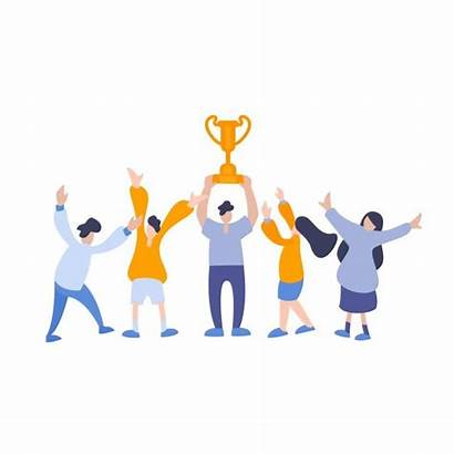 Winner Team Reward Win Happy Trophy Members