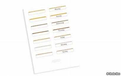 Printable Strips Label Week Days Blank Pdf