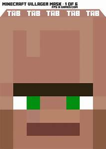 printable minecraft villager mask 1 of 6 With minecraft mask template