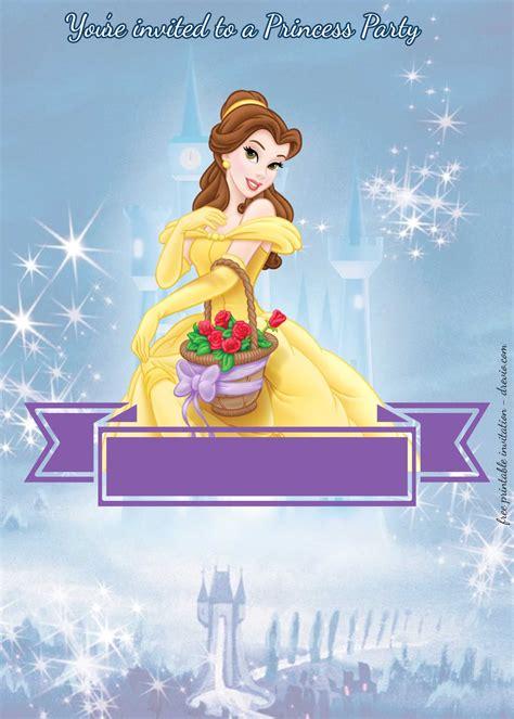 princess party birthday invitation templates