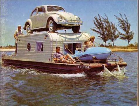 vw bug  houseboat  rocket mini boat volkswagen