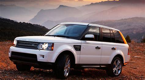 range rover white car sunset mountain cars machinery hd
