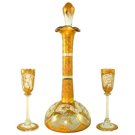 Antique Bohemian Raised Enamel Gold Gilt Glass Liquor. Bo Concept Desk. Virtual Dj Desk. Dining Room Table Set With Bench. Scandinavian Desk