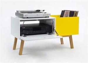 Meuble Platine Vinyle Vintage : buffet pour ranger platine et vinyles par cubit ~ Teatrodelosmanantiales.com Idées de Décoration