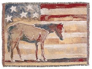 foto de Red White and Blue Horse Throw