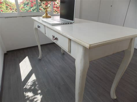 escritorio mueble vintage mesa blanco antiguo decapado