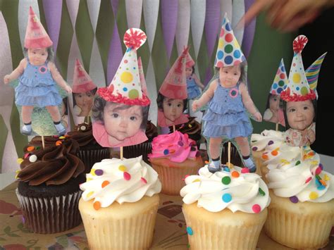 diy cupcake toppers for baby girl first birthday party owl