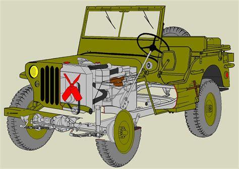 pieces jeep willys hotchkiss m201