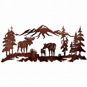 Moose Family Metal Wall Art