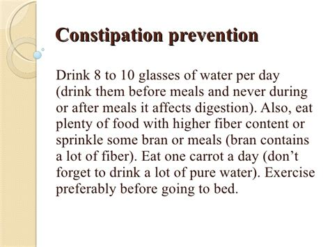 constipation prevention water drink blood