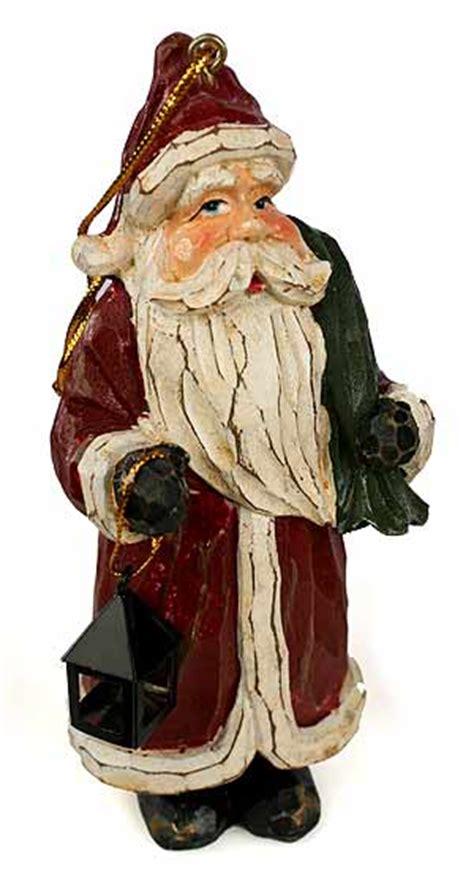 set   primitive  world santa ornaments christmas