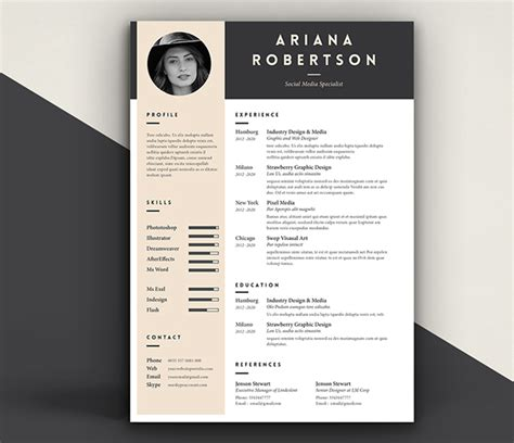 Behance Resume Template by Resume Template Iii On Behance