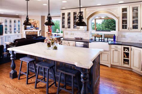 Farmhouse Kitchen Island Ideas - farm style kitchen family room