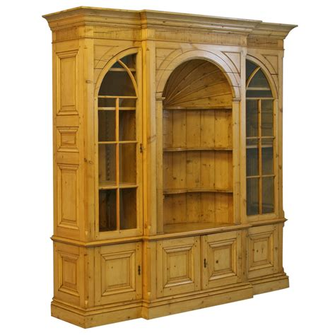 Bookcases With Cabinets by Large Pine Bookcase Display Cabinet At 1stdibs