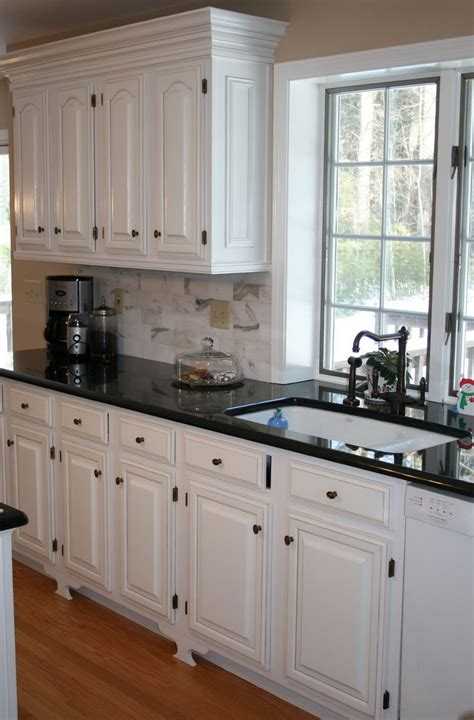 White Kitchen Cabinets With Dark Countertops  Home Design