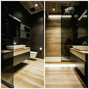 Meuble Salle De Bain Noir Et Bois : meuble salle de bain noir un rangement plein de caract re ~ Teatrodelosmanantiales.com Idées de Décoration