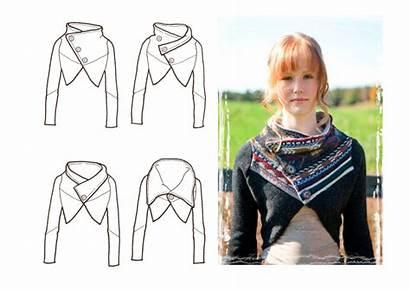 Cowl Neck Sewing Scarf Sweater Pattern Bra