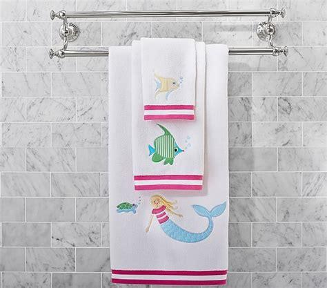 the sea mermaid bath towel collection pottery barn