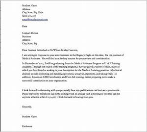 cover letter examples for resume medical assistant cover With example of a cover letter for medical assistant