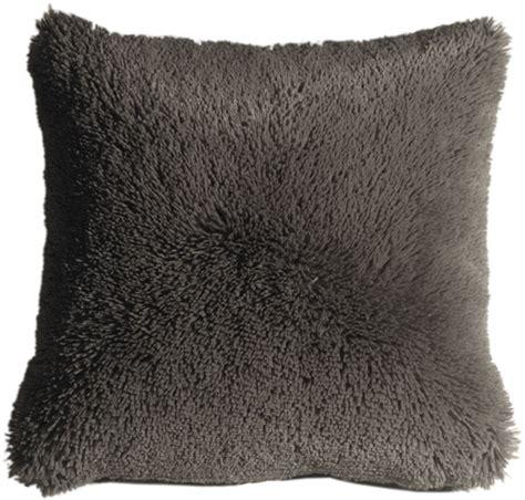 plush gray 20x20 throw pillow from pillow decor