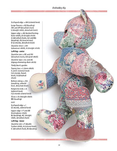 embroidered patchwork bear inspirations studios