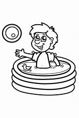 Coloring Pool Draw Toys Water Inflatable Unique sketch template