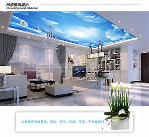 Aliexpress.com : Buy Large 3d mural wallpaper blue sky ...