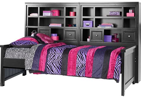 full size bookcase daybed cottage colors black 5 pc twin bookcase daybed twin beds