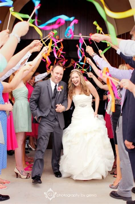 wedding ribbon wands ideas  pinterest wedding