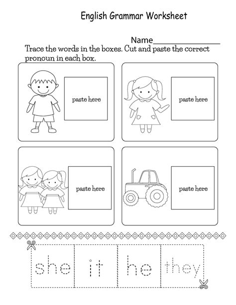 Printable English Worksheets For Kids  Learning Printable