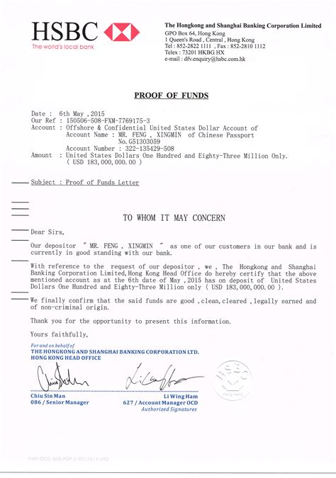 letter of character proof of funds letter the whistleblowers jacobus gerrit 22938 | 060515 PROOF OF FUNDS
