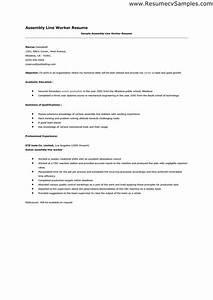 assembler resume sample jennywasherecom With sample resume for assembly line operator
