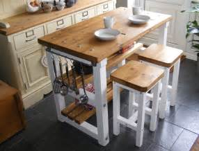 kitchen islands breakfast bar rustic kitchen island breakfast bar work bench butchers block with 2 stools ebay