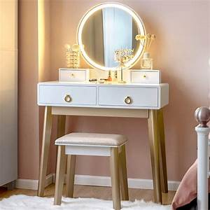 Best, Vanity, With, Lights, Makeup, Table, Set, And, Chair