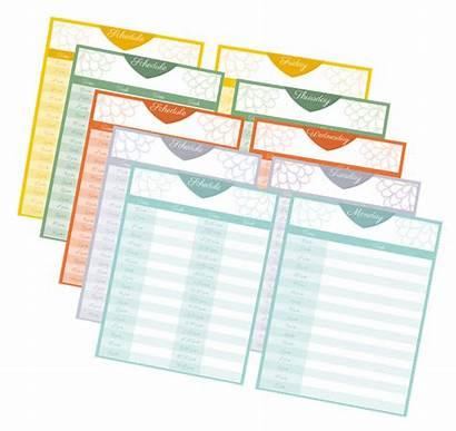 Block Printable Schedules Hour Half Pack Task