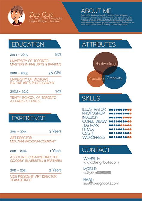 graphic design resume templates 50 beautiful free resume cv templates in ai indesign psd formats