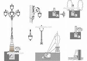 Urban lighting design dwg free cad blocks download
