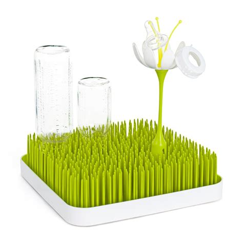 baby bottle drying rack boon grass green kitchen worktop baby bottle and accessory