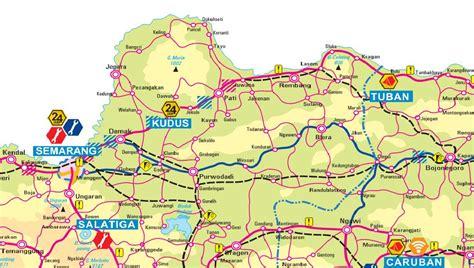 peta jalur pantai utara pantura jakarta surabaya surabaya
