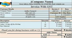 gst invoice format in excel hardhostinfo With gst invoice format in excel