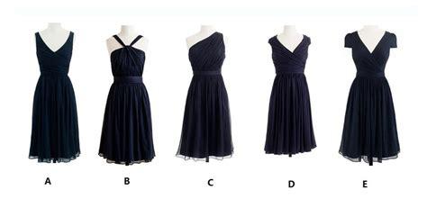 Navy Blue Series, A Line, Knee Length, Bridesmaid Dress