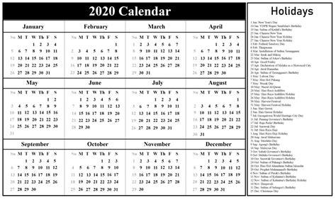 printable malaysia calendar   excel word