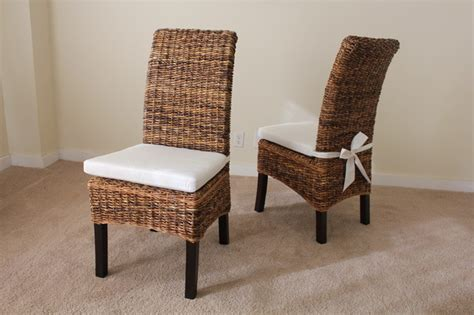 banana leaf chair with cushion contemporary dining