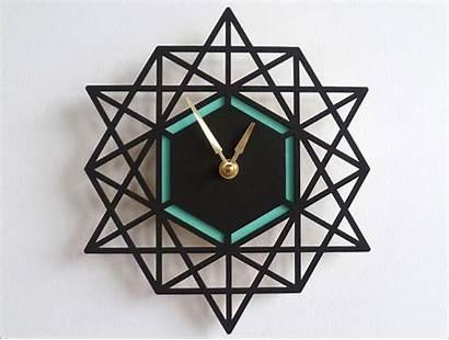Wall Clock Modern Geometric Clocks Funky Unique