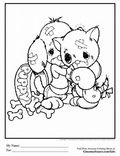 Coloring Puppy Pages Kitten Kitty Hard Precious